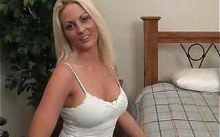 Busty blonde milf fucked and jizzed