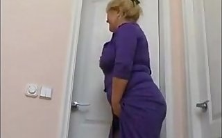 plump mom with saggy special and guy