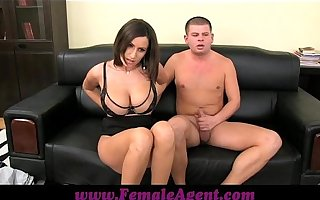 FemaleAgent Big boobed MILF results in unmoved by ropes of cum