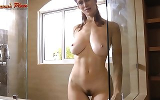 Inception Allison Dawnsplace Milf with Natural 32ddd tits tease - Glass Cleaner