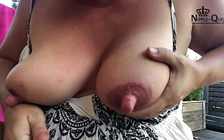 HUGE NIPPLES SELF SUCKING