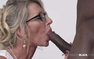 PrivateBlack – A catch Suppliant Milking Milf Marina Beaulieu Gets Dark Dicked!