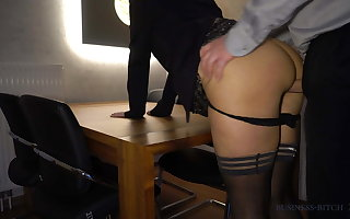boss fucks secretary anally beyond everything the table - business-bitch